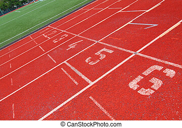 Running track with number 1-6