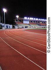 Running tracks in a stadium