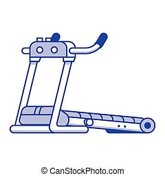Running Treadmill Icon - Vector running treadmill icon...
