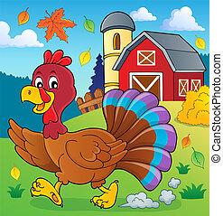 Running turkey bird theme image 2