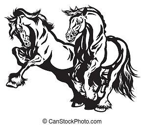 running two horses