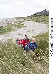 Running up the dunes