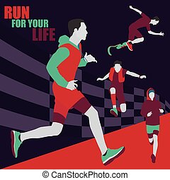 Running Vector illustration