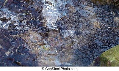 Running water - ice