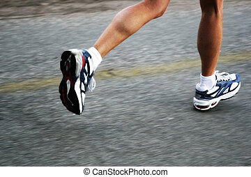 Running Woman - Feet of a running woman