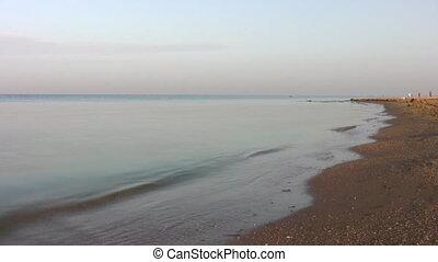 running woman on beach