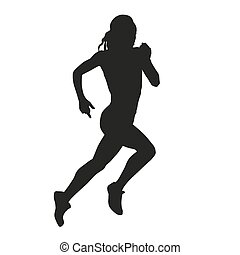 Running woman silhouette