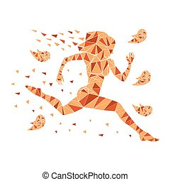 Running women silhouette