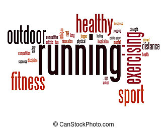 Running word cloud