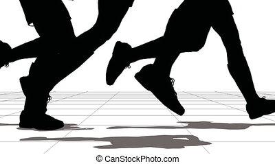 runs., sportifs, groupe