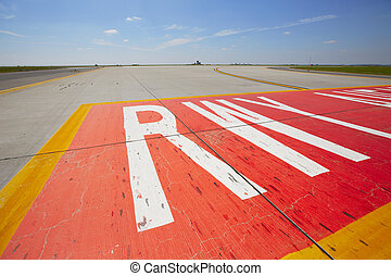 Runway - Airfield - marking on taxiway is heading to runway....