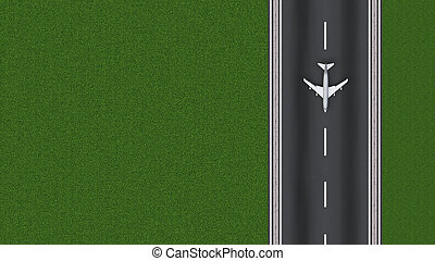 runway approach at the airport