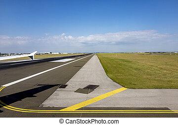 Runway at airport of Paris