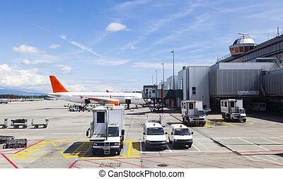 Runway in Geneva Airport