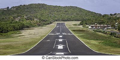 Runway Landing Strip Remote Tropical Island
