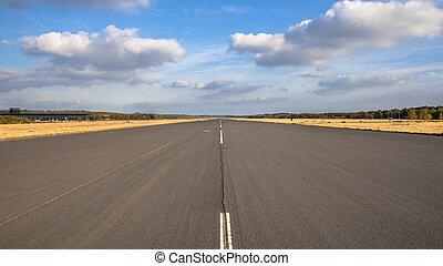 Runway on airport