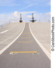 Runway on an Aircraft Carrier