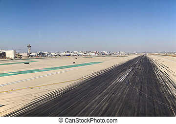 runway with marks at the airport