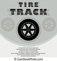 ruota, automobile, pneumatico, fondo
