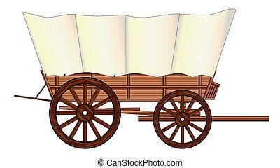 ruota, carro coperto