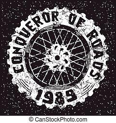 ruota, emblema, motocicletta