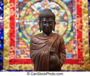 Rupa - rupa against a buddhist tanka