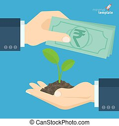 rupee for  growing sprout