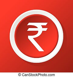 Rupee icon on red