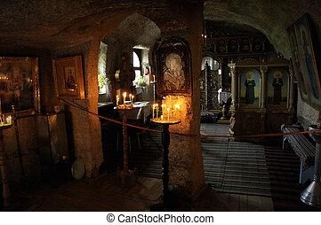 rupester, 修道院, 在, orheiul, vechi, 摩爾多瓦