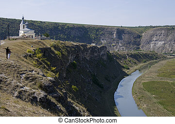Rupester Monastery in Moldova - View of old Rupester ...
