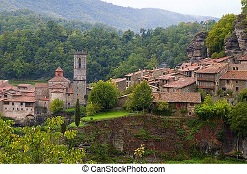 Rupit, Catalonia, Spain - Medieval village of Rupit, ...