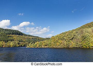 rur, alemania, lago, verano