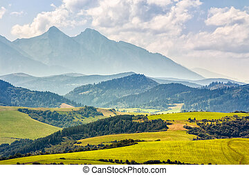 Rural area at the foot of Tatra mountains - Rural landscape...