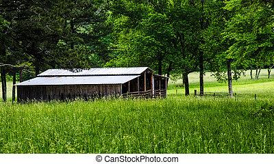 Rural barn in countryside