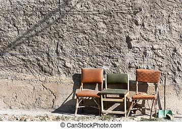 Rural chair in a wall, Spain