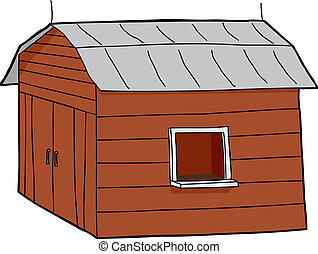 Rural Concession Stand - Cartoon concession stand in barn...