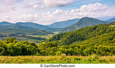 rural countryside in mountainous area - rural countryside...