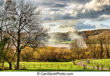 Rural countryside near Leighton Moss.