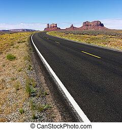 Rural desert road.