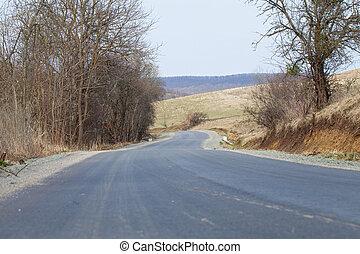 Rural driveway in Transylvania, Romania