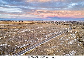 rural easten Colorado aerial view