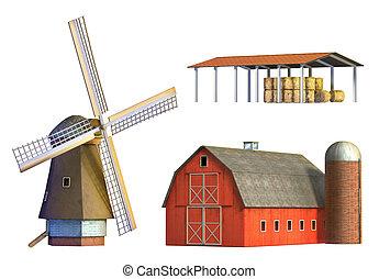 rural, edifícios