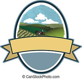 Rural Farm Scene Label