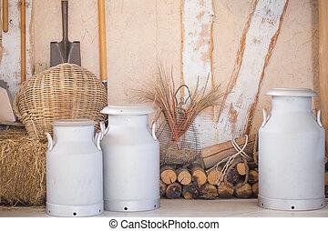 Rural farm style backdrop.