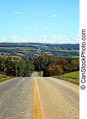 Rural Farmland Road