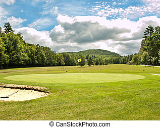 golf course - rural golf course in summertime
