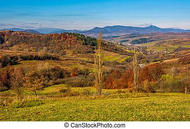 rural grassy fields on hills in gorgeous mountains. stunning...