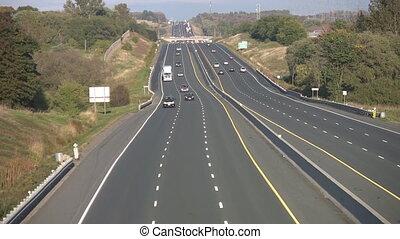 Rural highway traffic.