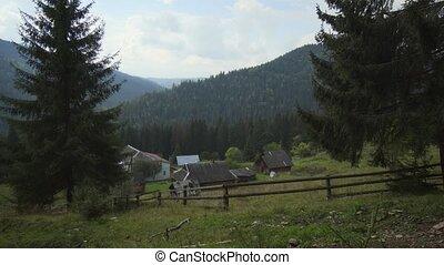 Rural Homestead in the Carpathian Mountains of Ukraine