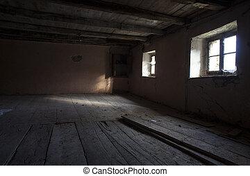 Rural house abandoned